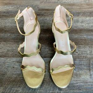 Gold Kelly and Katie platform sandal